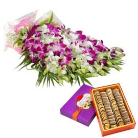 buy online orchids bunch n anjeer katli sweets in kanpur