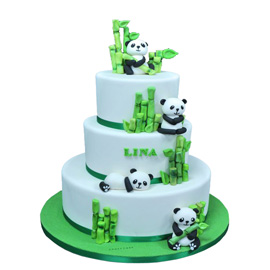 Panda Birthday Cake Delivery in Kanpur