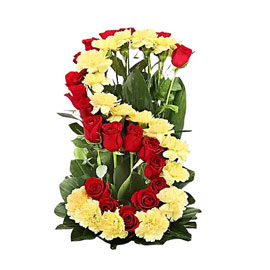 buy personalized alphabet arrangement midnight delivery in kanpur