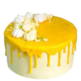 Send online half kg pineapple drip cake delivery in kanpur