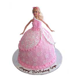 Send online pink barbie cake delivery in kanpur