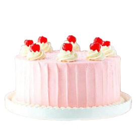 Send online pink Strawberry cake delivery in kanpur