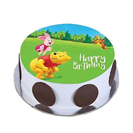 online delivery of Pooh Piglet photo cake delivery in kanpur