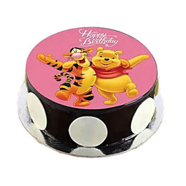 online delivery of Pooh Tigger photo cake delivery in kanpur