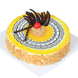 Send online half kg Premium Butterscotch cake delivery in kanpur