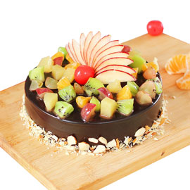 Send online Premium Choco Fruit chocolate cake delivery in kanpur
