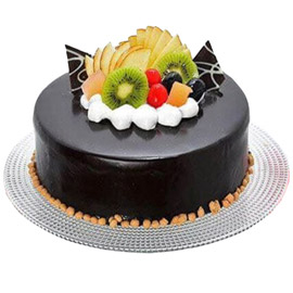 half kg chocolate fruit cake delivery in Kanpur