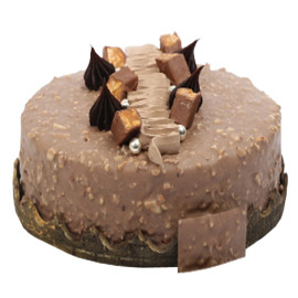 half kg chocolate praline cake delivery in Kanpur