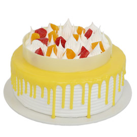 Send online half kg Premium pineapple cake delivery in kanpur