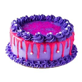Order online purple pink choco cake delivery in kanpur | kanpurgifts.com