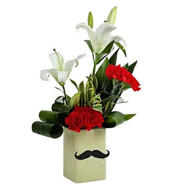 send red carnations for him arrangement same day delivery in kanpur