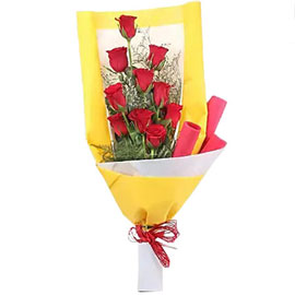 buy red roses premium bouquet midnight delivery in kanpur