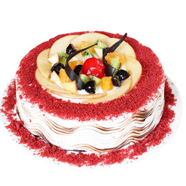 Send online Red Velvet Fruit cake delivery in kanpur
