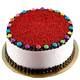 Send online Red Velvet Gems Cake delivery in kanpur