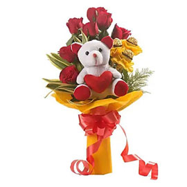 buy rocher roses choco bouquet midnight delivery in kanpur