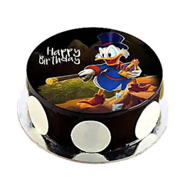 online delivery of Scrooge Mcduck photo cake delivery in kanpur