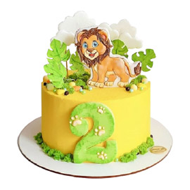 Simba Cartoon Cake delivery in Kanpur