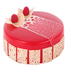Send online Strawberry marble cake delivery in kanpur