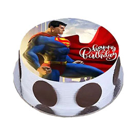 online delivery of Superman photo cake delivery in kanpur