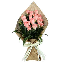 buy sweet pink roses pink bouquet midnight delivery in kanpur