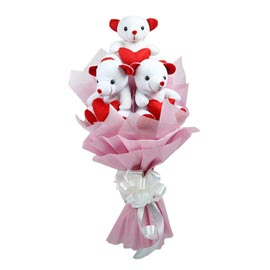 24 hrs online teddy bear bouquet delivery in kanpur