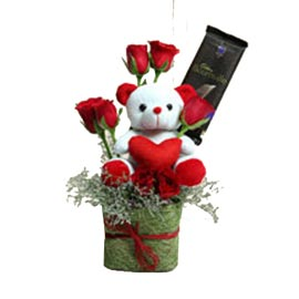 Midnight online roses, teddy n bornville chocolate kanpur