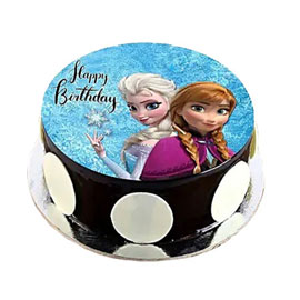 online delivery of The Frozen photo cake delivery in kanpur