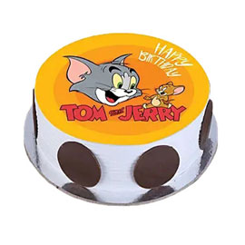 online delivery of Tom Jerry photo cake delivery in kanpur