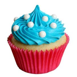 Midnight online vanilla cup cake for her delivery in kanpur
