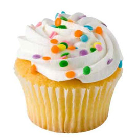 Midnight online vanilla cup cake delivery in kanpur