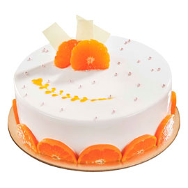 Send online Vanilla Orange cake delivery in kanpur