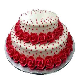 2.5 kg vanilla rose party cake midnight delivery in Kanpur