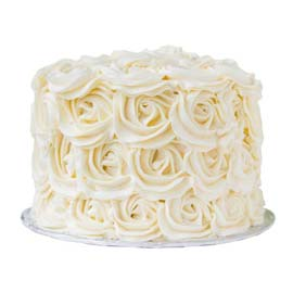 free home delivery of vanilla roses cake @ kanpur gifts