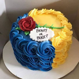 Yellow Blue Cake Delivery in kanpur